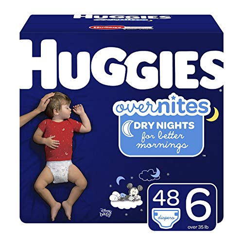 Huggies Overnites Nighttime Diapers, Size 6, 48 Ct (Packaging May Vary)