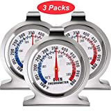 In OvenThermometer Oven Grill Fry Chef Smoker Thermometer Instant Read Stainless Steel Thermometer Kitchen Cooking Thermometer for BBQ Baking (3 Pieces)