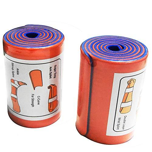 2 Pack Universal Aluminum Roll Splint Medical Polymer Fixture Bone First aid - 36 INCH