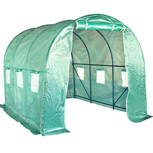 FDW Greenhouse for Outdoors Greenhouse Plastic Mini Greenhouse Kit Indoor Portable Greenhouse Plant Shelves Tomato Herb Canopy Winter Walk-in Green House for Patio L9.83'xW6.42'xH6.33'