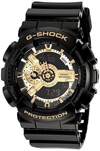 G-Shock Men's X-Large Combi GA110 Black/Gold Watch
