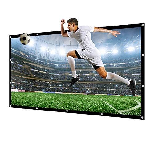 150 inch Projector Screen 16:9 NIERBO Movie Screen for Projectors Home Outdoor Indoor Office Church Projector Screen of Canvas Material with Double Sided Projection for Front and Rear