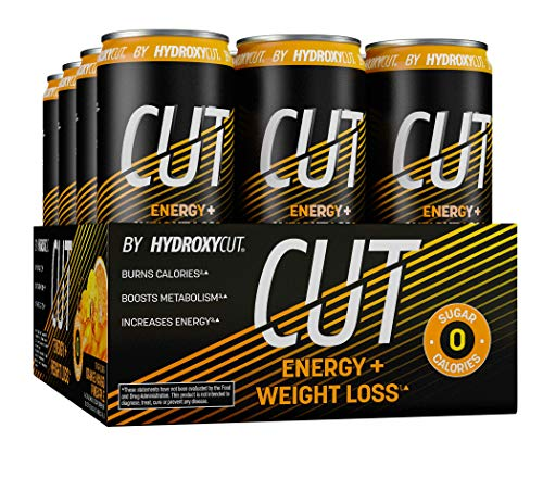 Energy Drink + Weight Loss | Hydroxycut Cut | Sparkling Energy Drinks + Weight Loss | Zero Sugar, Zero Calories | Metabolism Booster to Burn Calories | Orange Mango Pineapple, 12 fl oz Cans, 12-Pack