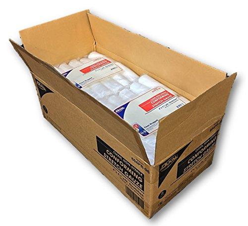 DUKAL 8514 - 96 Rolls Basic Care Conforming Stretch Gauze Bandage, 3', Sterile