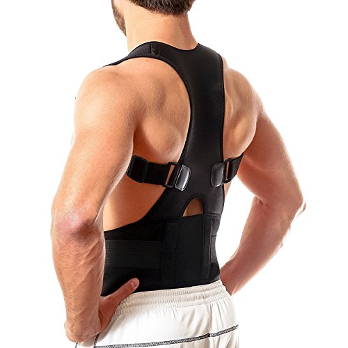 Back Brace Posture Corrector XL   Best Fully Adjustable Support Brace   Improves Posture and Provides Lumbar Support   For Lower and Upper Back Pain   Men and Women (Extra Large)