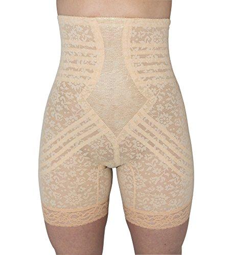 Rago Women's Hi Waist Long Leg Shaper, Beige, Large (30)