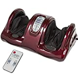 Best Choice Products Therapeutic Shiatsu Foot Massager Kneading and Rolling for Foot, Ankle, Nerve Pain w/High Intensity Rollers, Remote Control, 4 Programs, 3 Massage Modes - Burgundy