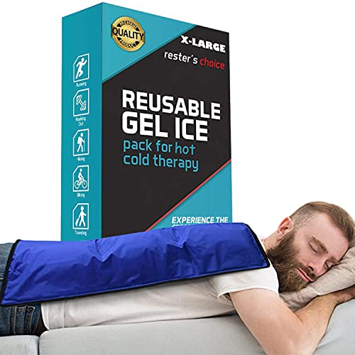 """Rester's Choice Cold Therapy Reusable Gel Pack – Extra Large 13x21.5"""" Ice Pack for Back, Knee, Legs, and Shoulders – Cold Ice Gel Pack Reduces Pain and Swelling from Injury and Surgery"""