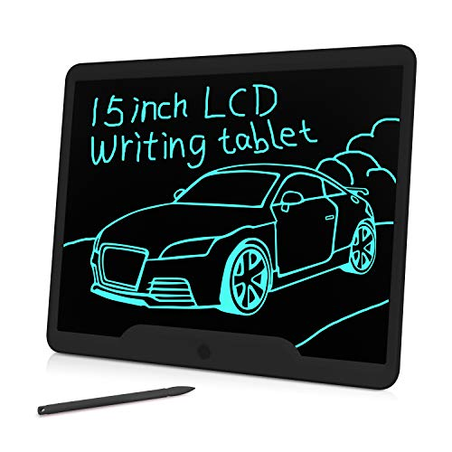 Gkcity LCD Writing Tablet,Drawing Tablet 15 inch,Portable Doodle Board Gifts,Erasable Reusable Writer,LCD Writing Tablet for Kids Office Memo Home
