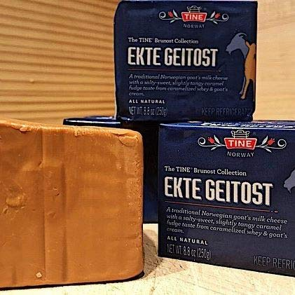Ekte Geitost Norwegian Goat Cheese 8.8 ounces 2 pack
