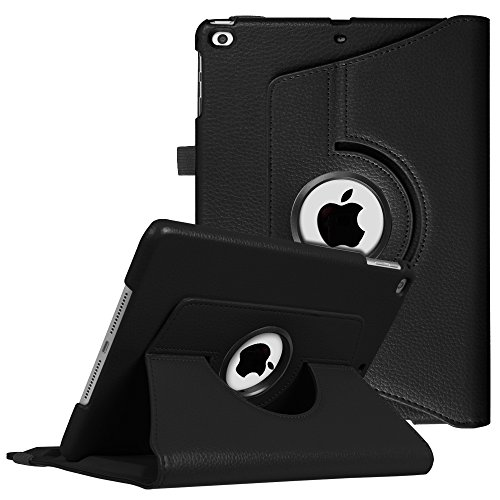 Fintie Case for iPad 9.7 2018 2017 / iPad Air 2 / iPad Air - 360 Degree Rotating Stand Protective Cover with Auto Sleep Wake for iPad 9.7 inch (6th Gen, 5th Gen) / iPad Air 2 / iPad Air, Black