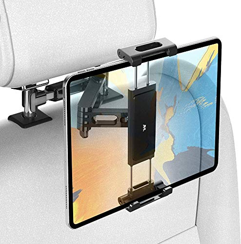 Car Tablet Holder, Headrest Tablet Mount - AHK Headrest Stand Cradle Compatible with Devices Such as iPad Pro Air Mini, Galaxy Tabs, Other 4.7 -12.9' Cell Phones and Tablets