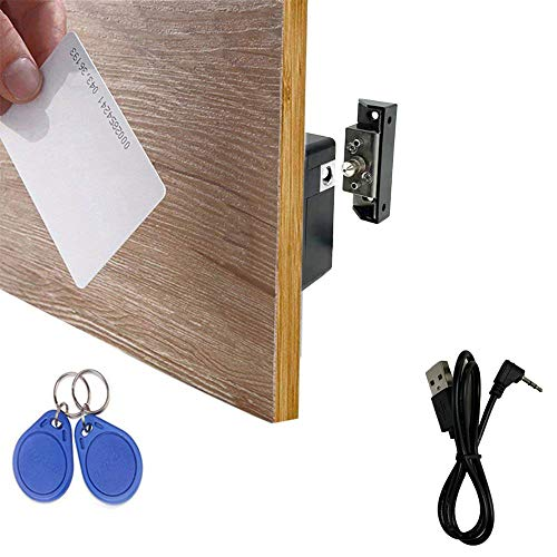 WOOCH Electronic Cabinet Lock, Hidden DIY RFID Lock with USB Cable for Wooden Cabinet Drawer Locker Cupboard