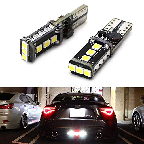 iJDMTOY (2) Xenon White High Power 9-SMD 906 912 920 921 T15 LED Replacement Bulbs Compatible With Car Backup Reverse Lights