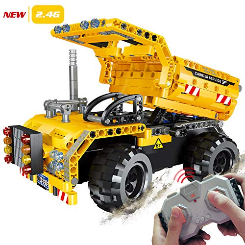 STEM Engineering Toys | Dump Truck Building Set with Remote Control, Fun Educational Construction Toy for Boys And Girls ages 6 7 8 9 10-12 year old and up, Best Toy Gift for Kids, Activity Game