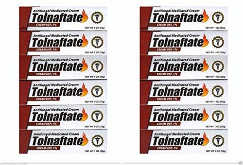 Lot of 12 Tolnaftate 1% athletes foot cream anti-fungal Medicated - 1 oz each