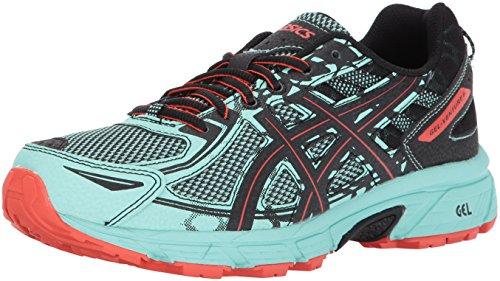 ASICS Women's Gel-Venture 6 Running-Shoes,Ice Green/Black/Cherry Tomato,10 Medium US