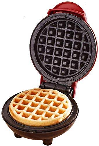 Mini Waffle Maker Machine for Individual Waffles,Suitable for Exercising Children's Ability to Cook Independently,Easy Clean,Non-Stick Sides.