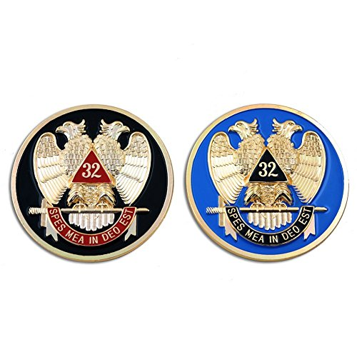 32nd Degree Scottish Rite Masonic Auto Emblem Combo Pack - [3'' Diameter]