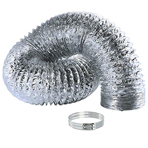 Aluminum Air Ducting for HVAC Ventilation Dryer Vent Hose 4 Inch x 6 Feet Flexible Air Duct for Heating and Cooling Ventilation and Exhaust