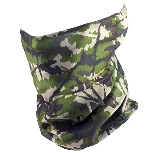GOT Sports Fishing Mask Camo Headwear - Works as Fishing Sun Mask, Neck Gaiter, Headband, Bandana, Balaclava - Multifunctional Breathable Seamless Microfiber (Deep Forest)