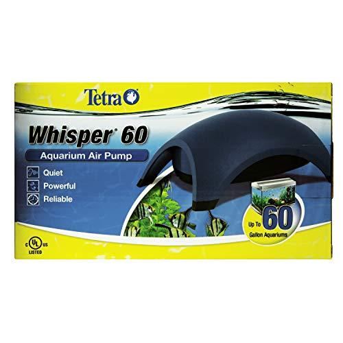 Tetra 77849 Whisper Air Pump 40 to 60 Gallons, for Aquariums, Quiet, Powerful Airflow