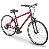 700c Royce Union RMY Mens 21-Speed Hybrid Comfort Bike, 19' Aluminum Frame, Metallic Red