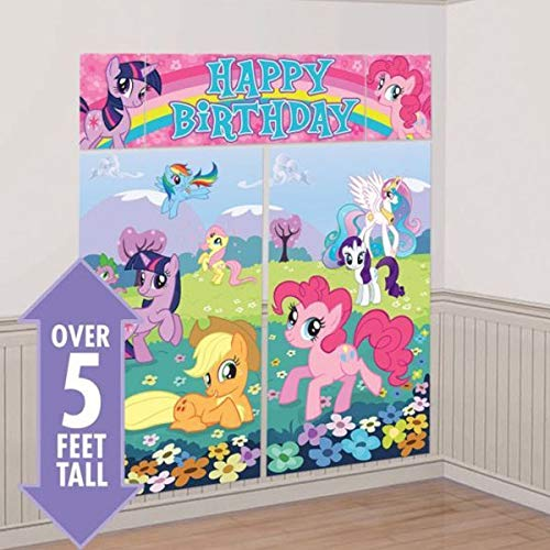 Scene Setters Wall Decorating Kit | My Little Pony Friendship Collection | Birthday