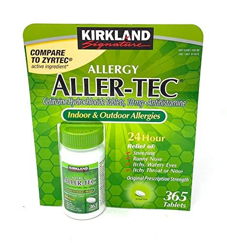 Kirkland Signature Aller-Tec Cetirizine Hydrochloride Tablets, 10 mg, 365 Count