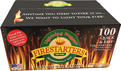Lightning Nuggets N100SEB Super Economy Box Fire Starter 100, Count, Tan