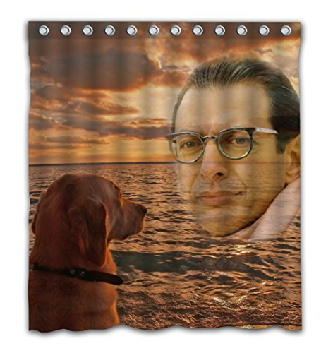 Delean Custom Miss You Mr Goldblum Fabric Water-Proof Shower Curtain Printed for Bathroom Decoration 60x72 Inches