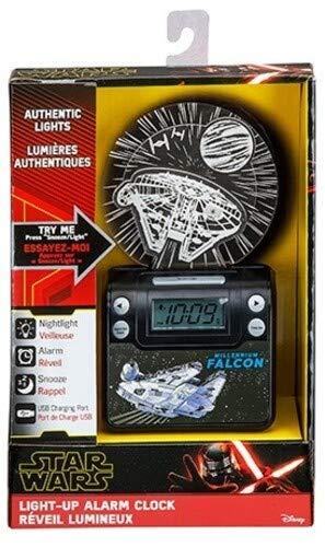 eKids Star Wars SW-349.FXv9M Light Up Alarm Clock with USB Charging