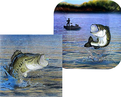 Fishing Party Supplies - Bundle Includes Appetizer or Dessert Plates and Napkins for 16 People in a Gone Fishin' Design