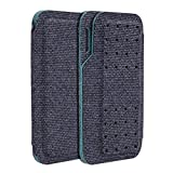 Carrying case for Kardia Mobile EKG Monitor - Travel Kardia Case Fits in Pocket, Features Magnetic Closure to Keep Kardia Device Safe On The Go, NOT Fit KardiaMobile 6L,Dark Blue