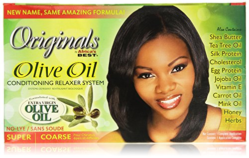 Africa's Best Organics Organic Conditioning Relaxer System, for Coarse Resistant Hair, No-Lye, Super