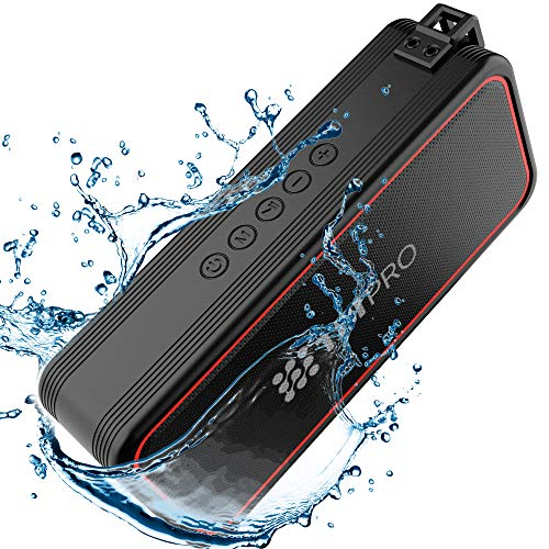 TBI Pro Powerful 20W Bluetooth Speaker - Model 2021 - IPX7 Waterproof - 24 Hours Battery - Portable Indoor/Outdoor Deep Bass Wireless Speakers with Mic - Loud True Stereo Sound - Shower, Travel, Party