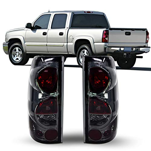 ZMAUTOPARTS Tail Brake Lights Rear Lamps Smoke For 1999-2006 Chevy Silverado / 1999-2003 GMC Sierra Pickup