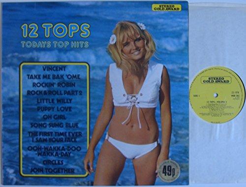 12 Tops Todays Top Hits - Volume 3 - 12' LP 1972 - Stereo Gold Award MER 362 - UK Press