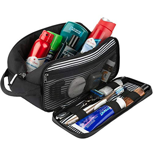 Toiletry Bag Dopp Kit for Men - Nylon Travel Toiletry Bag Waterproof Shower Cosmetic Organizer for Women Men - Travel Kit Shaving Bag for Men