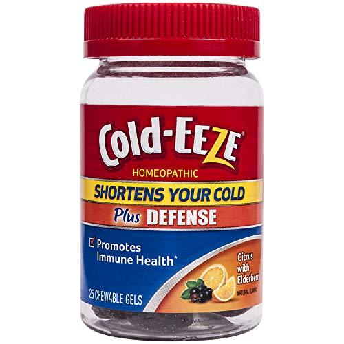 Cold-EEZE Plus Defense Chewable Gels, Citrus with Elderberry 25ct- Shortens Colds, Promotes Immune Health*