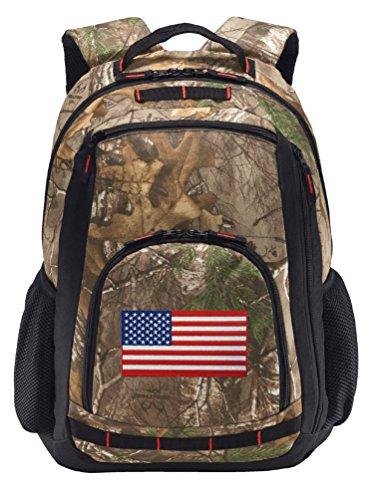 American Flag Camo Backpack REALTREE USA Flag Backpacks - Laptop Section!