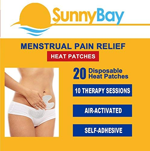 Heat Patches for Body Pain Relief - Disposable Heating Pads for Back Pain - Knee Muscle Heat Patch Air Activated Adhesive - Period or Menstrual Cramps Therapy Heatwraps by Sunnybay (20 Packs)