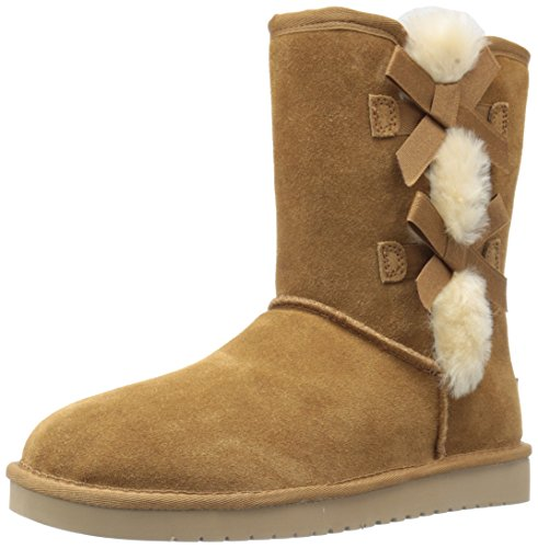 Koolaburra by UGG Women's Victoria Short Fashion Boot, Chestnut, 10 M US