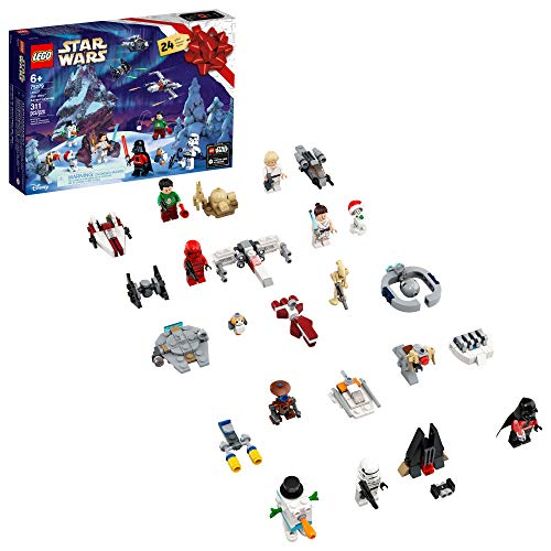 LEGO Star Wars Advent Calendar 75279 Building Kit for Kids, Fun Calendar with Star Wars Buildable Toys Plus Code to Unlock Character in Star Wars: The Skywalker Saga Game, New 2020 (311 Pieces)