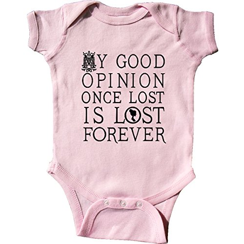 inktastic Jane Austen Good Opinion Quote Infant Creeper 6 Months Pink