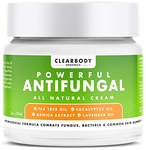 Antifungal Cream- Effectively Treat Toenail Fungus, Athlete's Foot, Eczema, Ringworm, Jock Itch- Powerful Natural Tea Tree Oil Formula Combats Nail Fungus, Body Acne, Foot Odors- Made in USA, 2oz