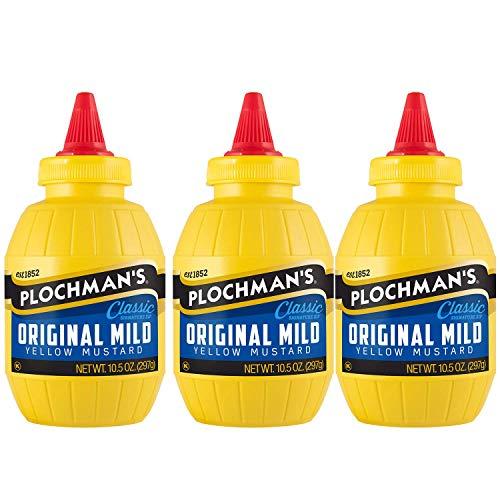 Plochman's Yellow Mustard, Original Mild Classic Mustard, 10.5 Oz (3 Pack)