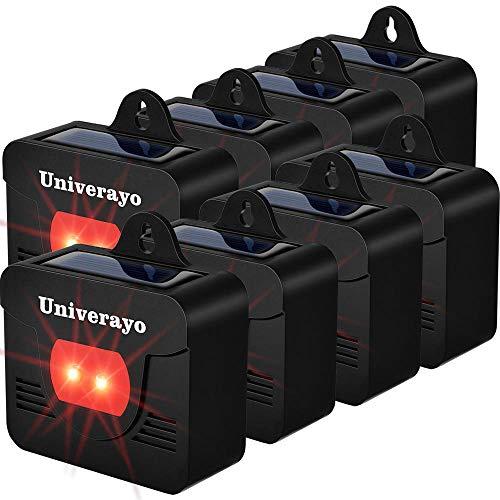 Univerayo Coyote Deterrent Light Solar Predator Control Lights for Deer Coyotes Repellent Devices Skunk Fox Raccoon Repellent Upgraded Version - 8 Pack