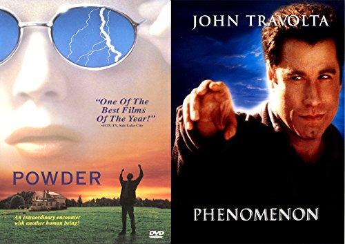 Extraordinary Human Phenomenon John Travolta & Powder Double Feature Movie Bundle