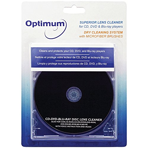 Optimum Superior Lens Cleaner (OPTCDDVDLC) For CD, DVD and Blu-ray Players with Microfiber Brush Cleaning System